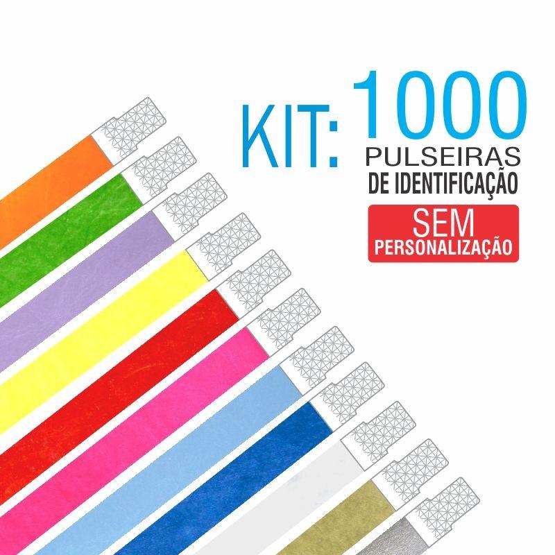Pulseiras Identificação Tyvek Kit 1000 unid - PROMOÇÃO