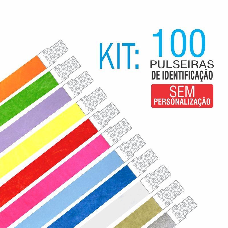 Pulseiras Identificação Tyvek Kit 100 unid - PROMOÇÃO