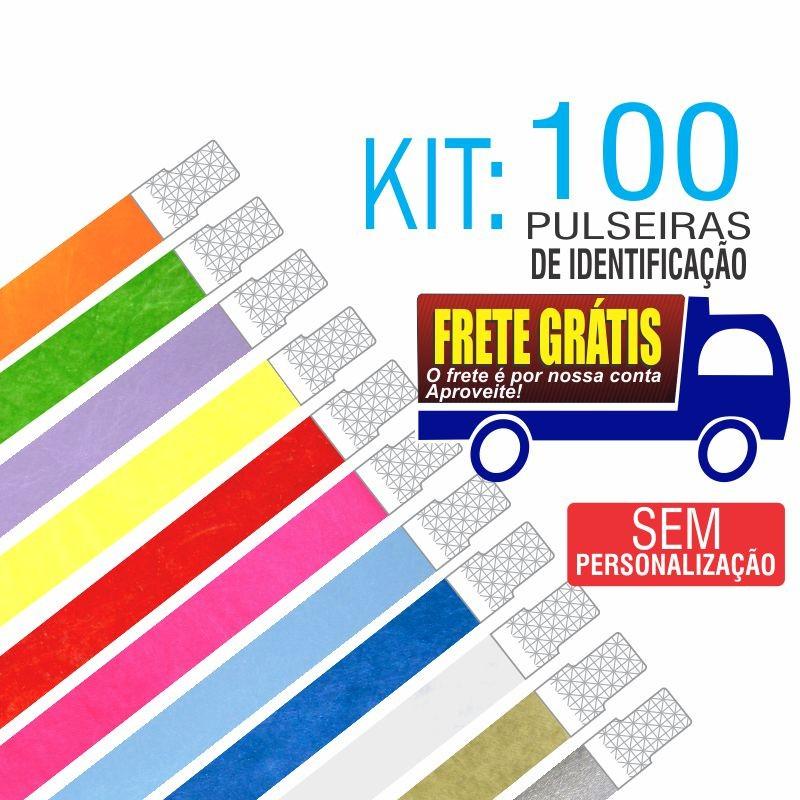 Pulseiras Identificação Tyvek Kit 100 unid - Envio Grátis por Carta Registrada. Entrega aprox. 10 dias úteis
