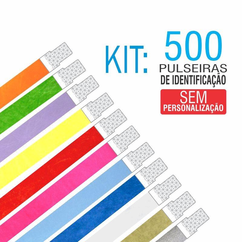 Pulseiras Identificação Tyvek Kit 500 unid - PROMOÇÃO