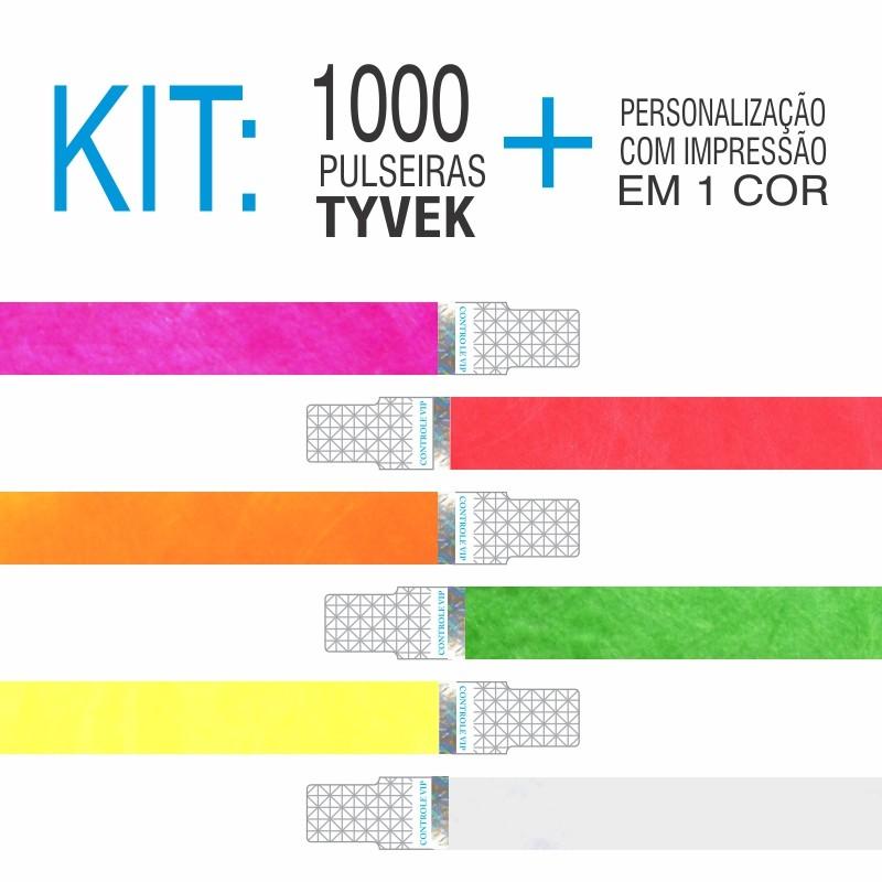 Pulseira Tyvek c/ Holografia Kit 1000 unid
