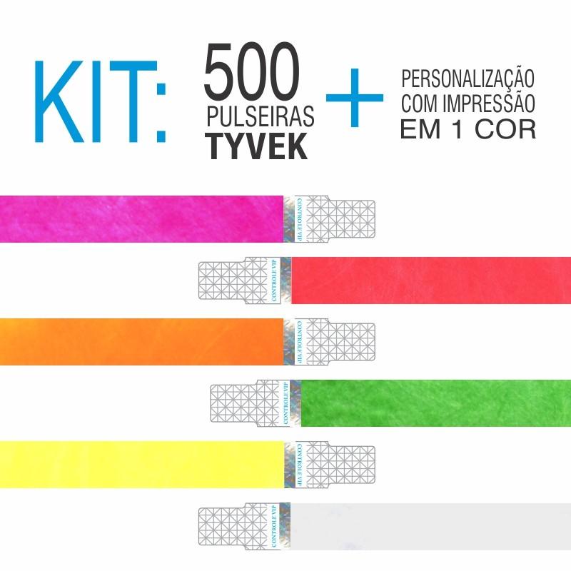 Pulseira Tyvek c/ Holografia Kit 500 unid