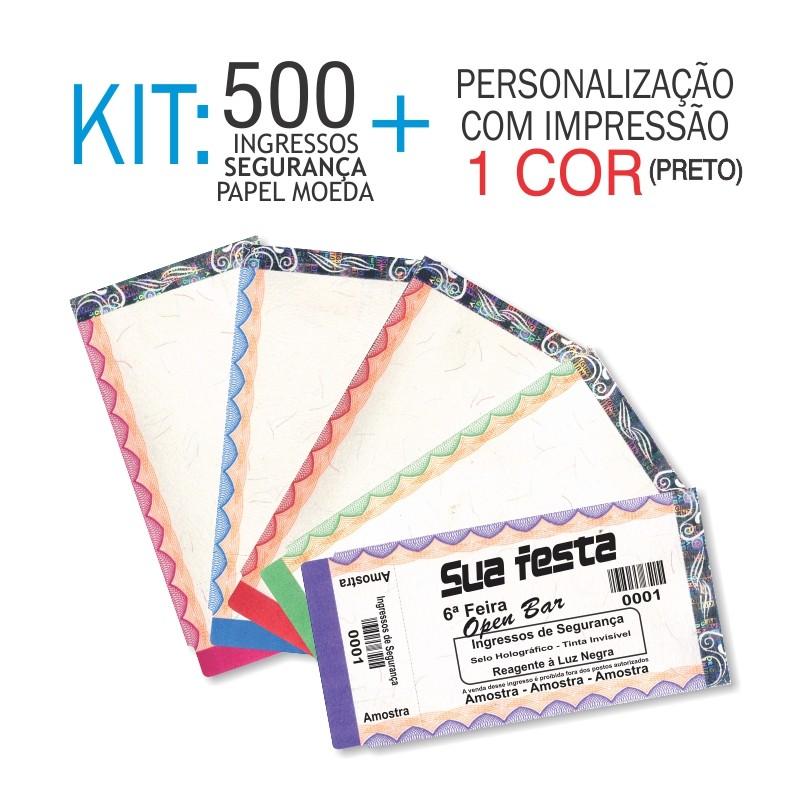 Ingressos em Papel Moeda Kit 500 unid