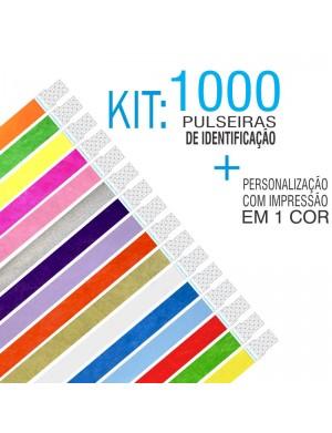 Pulseiras Identificação Tyvek Kit 1000 unid
