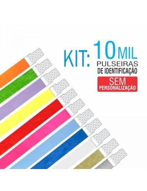 Pulseiras Identificação Tyvek Kit 10 mil unid - PROMOÇÃO