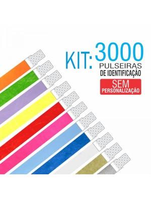 Pulseiras Identificação Tyvek Kit 3000 unid - PROMOÇÃO