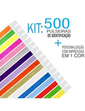 Pulseiras Identificação Tyvek Kit 500 unid