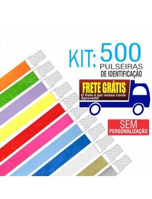 Pulseiras Identificação Tyvek Kit 500 unid - Envio Grátis por Carta Registrada. Entrega aprox. 10 dias úteis