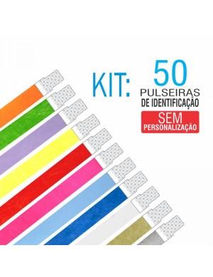 Pulseiras Identificação Tyvek Kit 50 unid - PROMOÇÃO