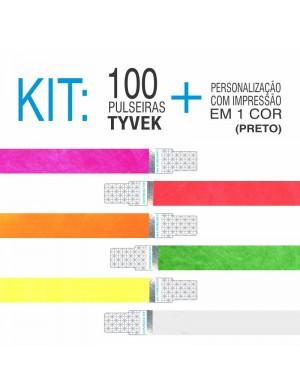 Pulseira Tyvek c/ Holografia Kit 100 unid