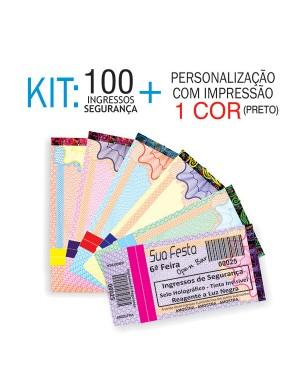 Ingressos de Segurança Kit 100 unid