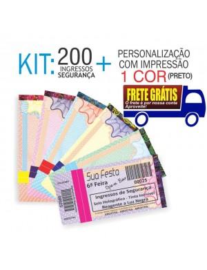 Ingressos de Segurança Kit 200 und. Envio Grátis por Carta Registrada. Entrega aprox. 10 dias úteis