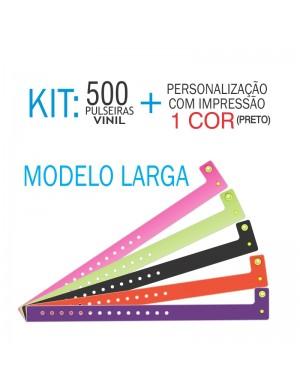 Pulseiras de identificação em Vinil Larga Kit 500 unid