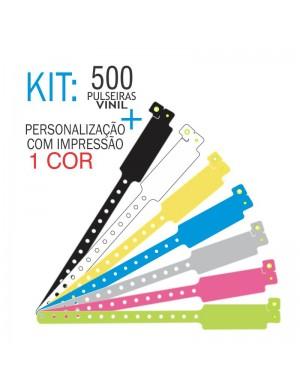 Pulseiras de identificação em Vinil Super Larga Kit 500 unid