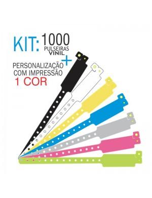 Pulseiras de identificação em Vinil Super Larga Kit 1000 unid